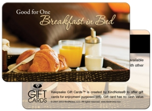 Favor Gift Card Breakfast in Bed400